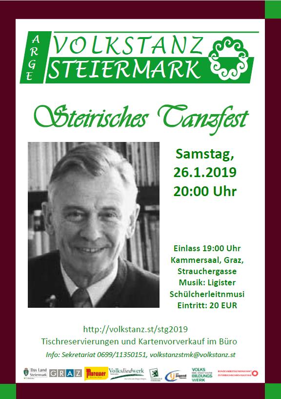 Einladungsplakat Steierisches Tanzfest 2019